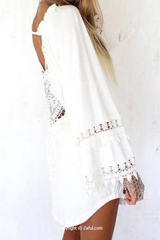 dress white lace boho dress dress corilynn dressofgirl maxi dress prom dress cute dress lace dress white dress boho chic boho boho shirt bohemian boho jewelry outfit summer summer dress summer outfits summer holidays