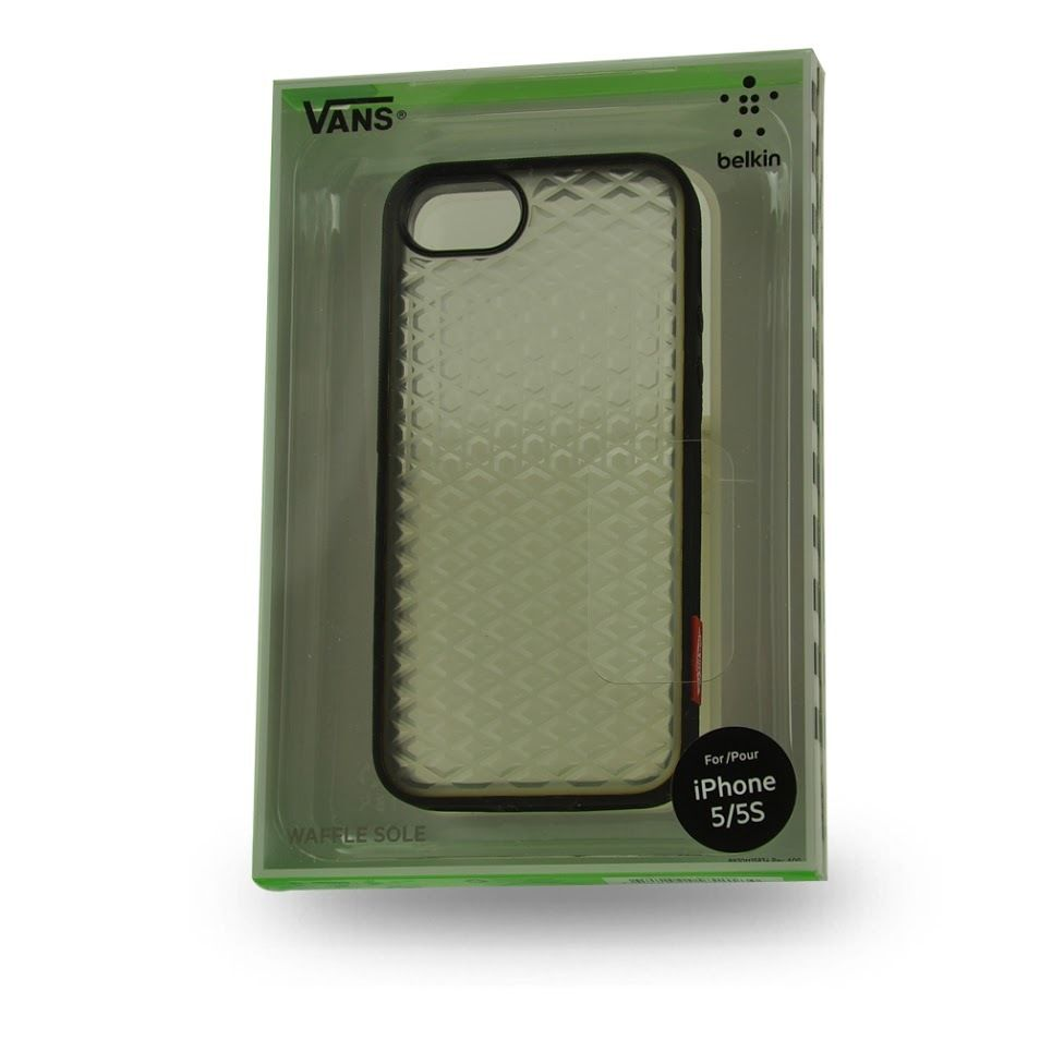 pretty nice d485e 81933 Belkin iPhone 5 5S Vans Waffle Sole Case Blacktop Clear New Original  Pacaging | eBay