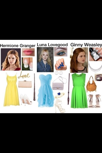 any dress out of these. evanna lynch emma watson