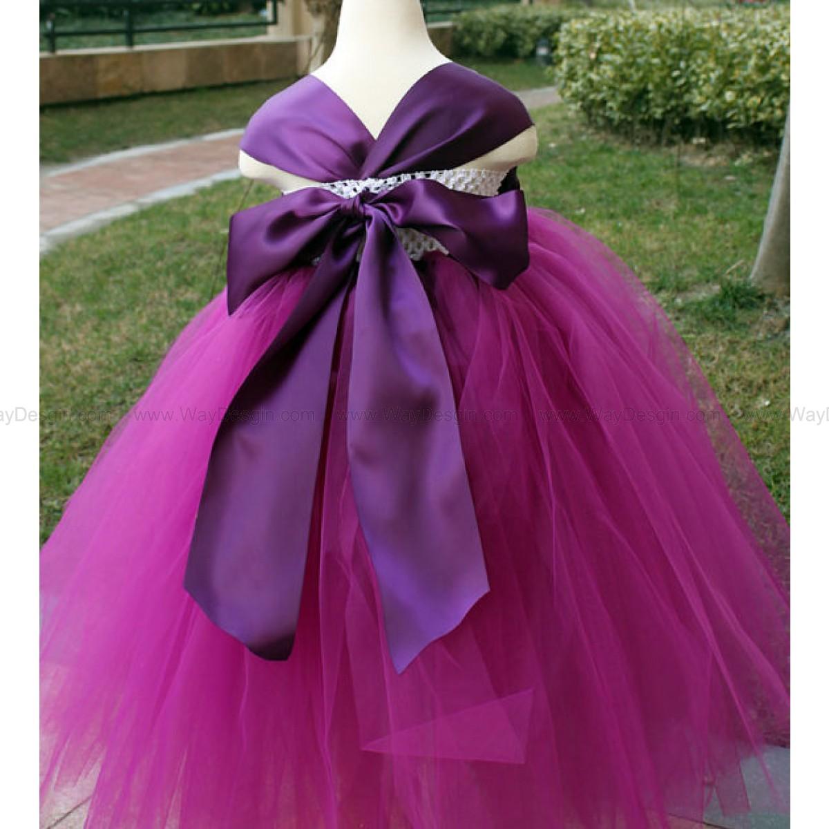 Flower Girl Dress Purple Plum tutu dress baby dress toddler birthday dress wedding dress