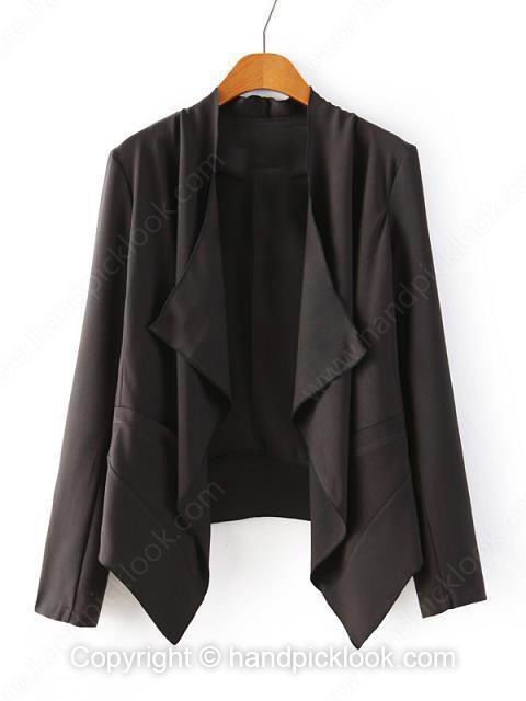 Black Long Sleeve Loose Fashion Blazer - HandpickLook.com