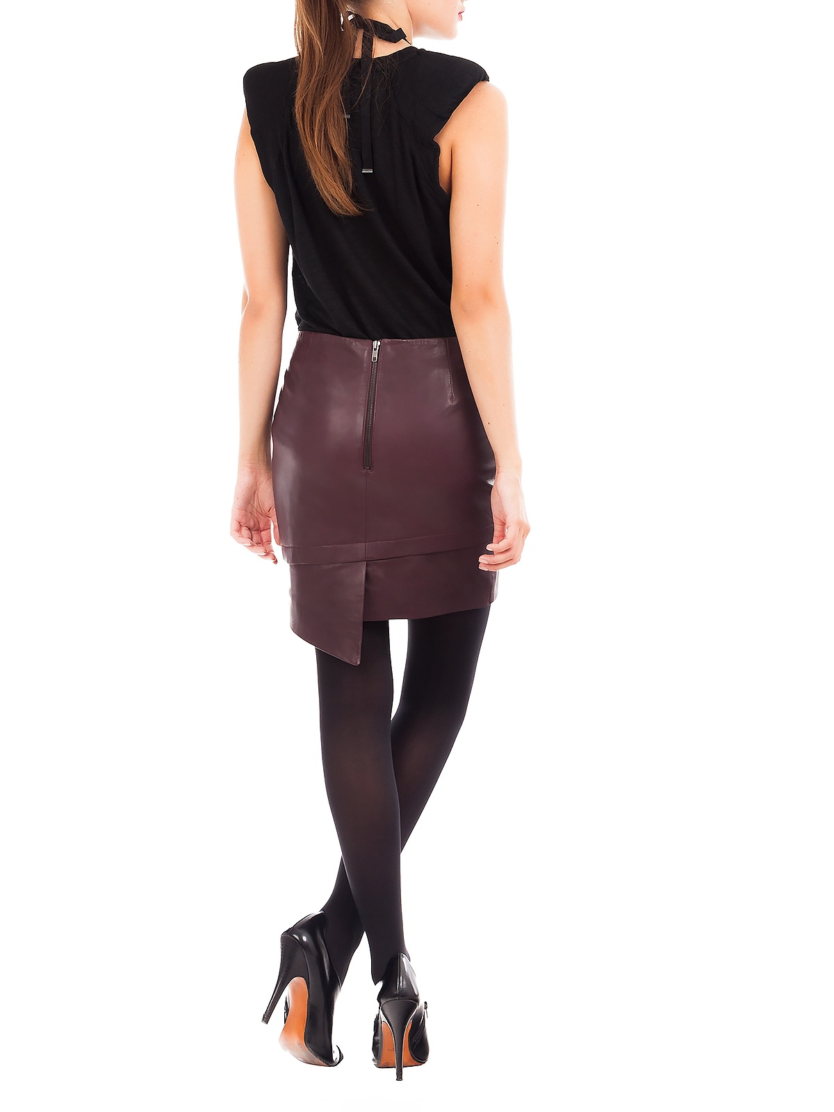MIKKI BURGUNDY MINI SKIRT | GIRISSIMA.COM - Collectible fashion to love and to last
