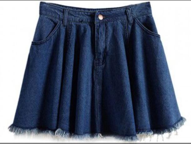skirt skater skirt denim denim skirt high waisted
