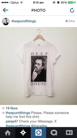 t-shirt deep house humour comic funny pun house graphic print tshirt print tee hipster indie tv