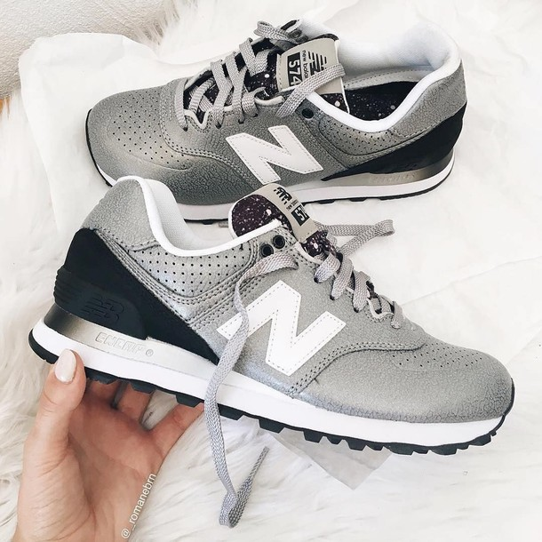 shoes new balance sneakers grey