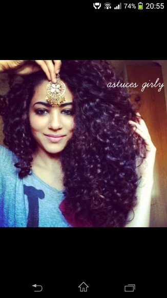 arabic style oriental jewels head jewels curly hair