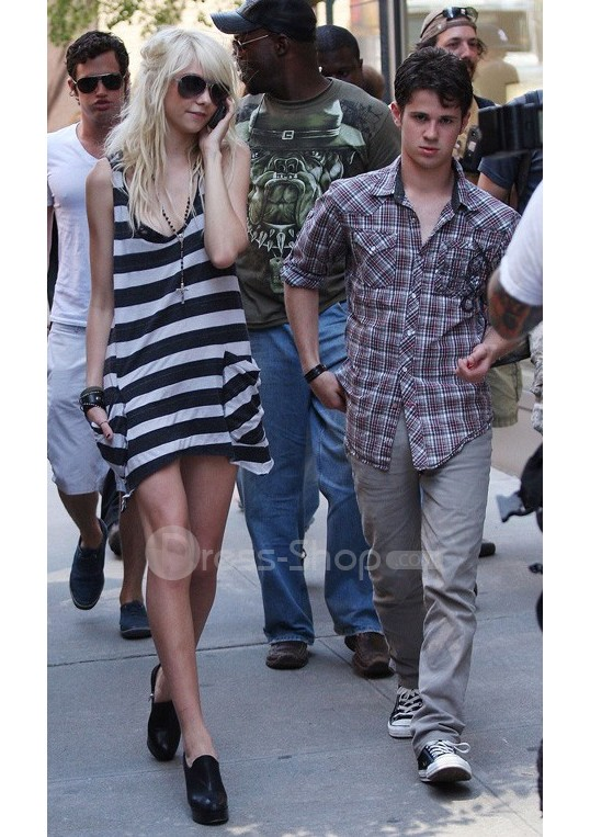 Classic gossip girl:taylor momsen mini white cotton celebrity dress:buy at sheinside
