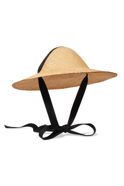 CLYDE - Adriatic Cotton-trimmed Straw Hat - Ivory