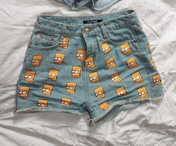 shorts jeans denim the simpsons bart simpson spring outfits summer like