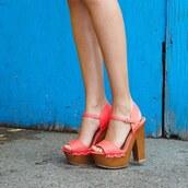 shoes,heels,woods,fashion,trendy,summer,fashionista,bright heels,platform heels,strappy heels,qupid