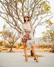 olivia lazuardy,blogger,hat,top,skirt,shoes,bag,summer outfits,sandals