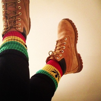 socks rasta hippie