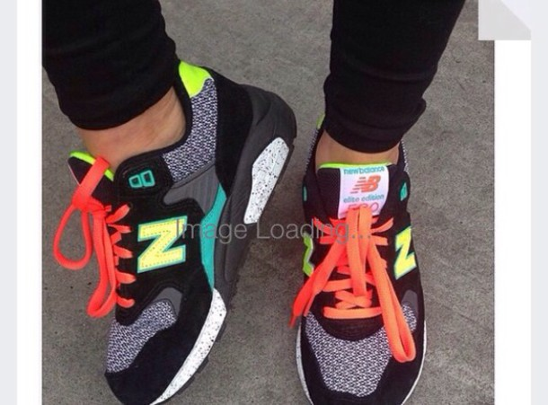 shoes new balance orange fluo