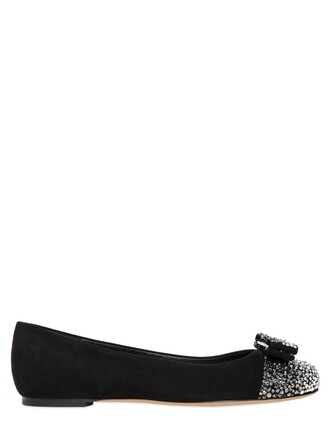 flats suede black shoes