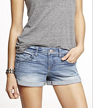 2 1/2 INCH ROLLED DENIM SHORTS | Express