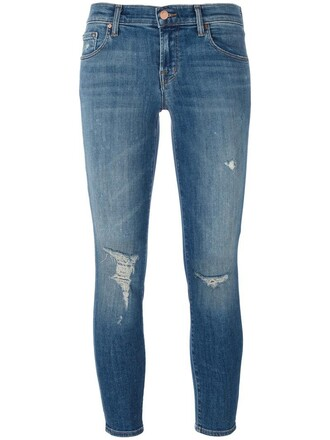 jeans cropped jeans cropped women spandex cotton blue 24