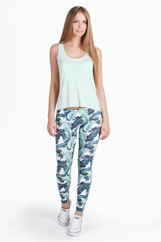 leggings bananas girly clothes print printed leggings