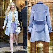 jacket,blue dress,wool,long sleeves,buttons,belt,brands,fashion,winter coat,autumn/winter,cashmere in style,women clothes,overcoat,underwear,elle fanning