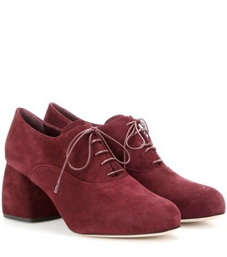 shoes suede red