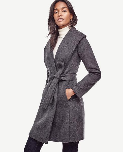 Doublefaced Wrap Coat | Ann Taylor