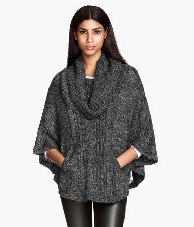 H&M Knit Poncho $34.95