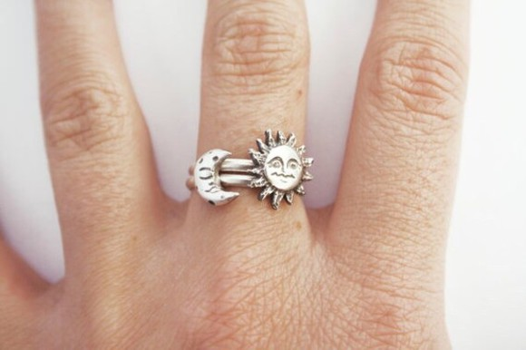 jewels sun moon silver rings