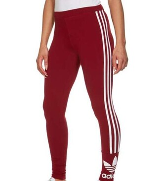 leggings red white trefoil adidas original adidas originals jd sports 3 stripes