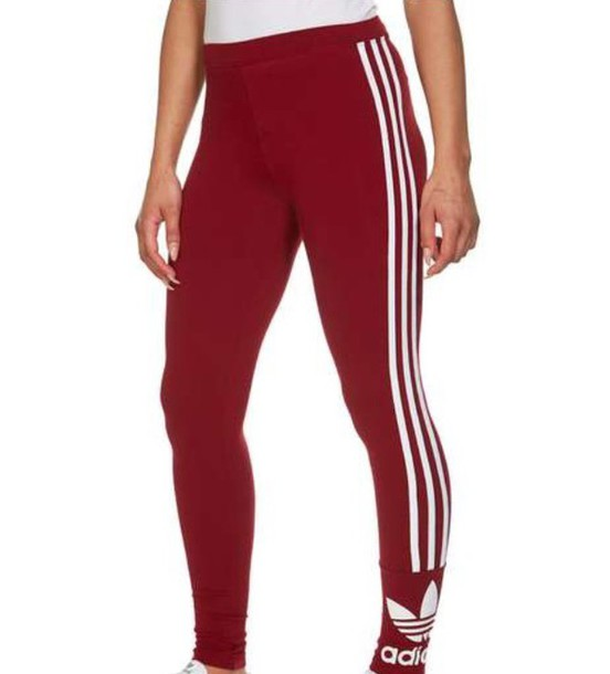 Leggings: red, white, trefoil, adidas, original, adidas originals ...