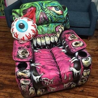 bag chair zombie lazy boy alternative home accessory pink