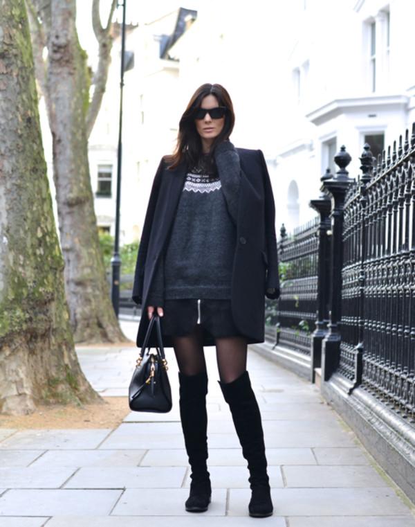 northern light skirt shoes coat bag sunglasses jewels