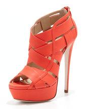 shoes,halle caged platform bootie,lipstick,ruthie davis,platform bootie,high heels