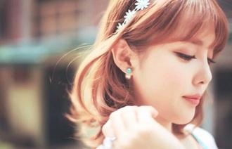 hair accessory white white headband flowers flower headband cute girl kfashion korean fashion