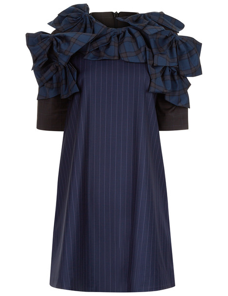 Anna K dress mini dress bow mini navy