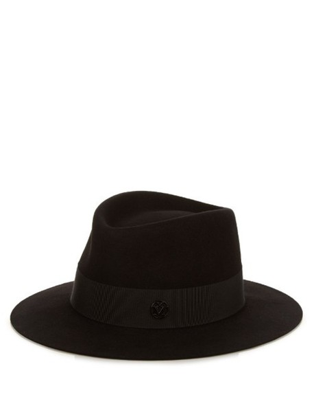 fur hat felt hat black