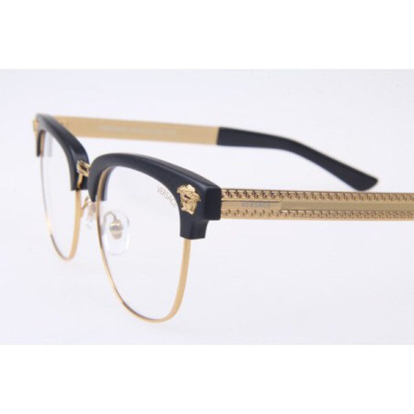 Black And Gold Eyeglass Frames : Versace VE 2172 Black / Gold Eyeglasses