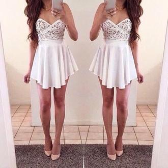 dress white white dress lace dress lace on top lace on top dress white formal dres battenburg lace white skirt white lace on top prom dress dance dress