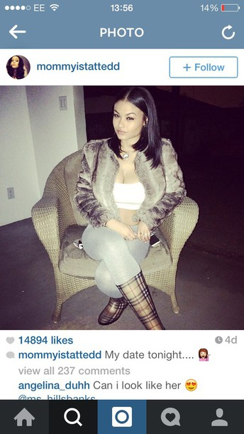 jacket india love pants shoes fur india westbrooks bralette _indialove westbrooks wellies instagram
