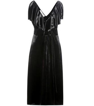 dress midi dress midi velvet black
