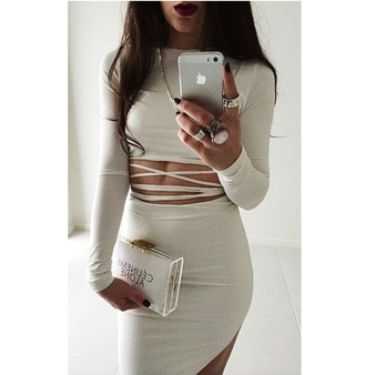 grey strappy dress