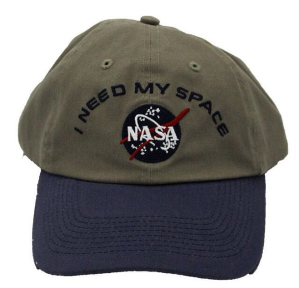hat cap baseball cap trucker cap green blue puns pun olive green nasa nasa shirt i need space