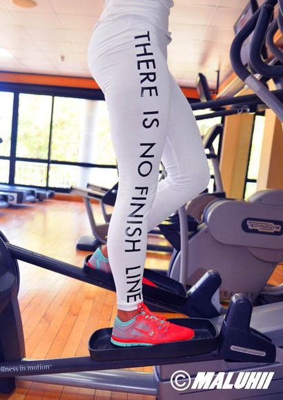 leggings printed leggings white fitness gymwear sportswear exercise fitspo quote on it motivational clothes white leggings white gym leggings white yoga pants