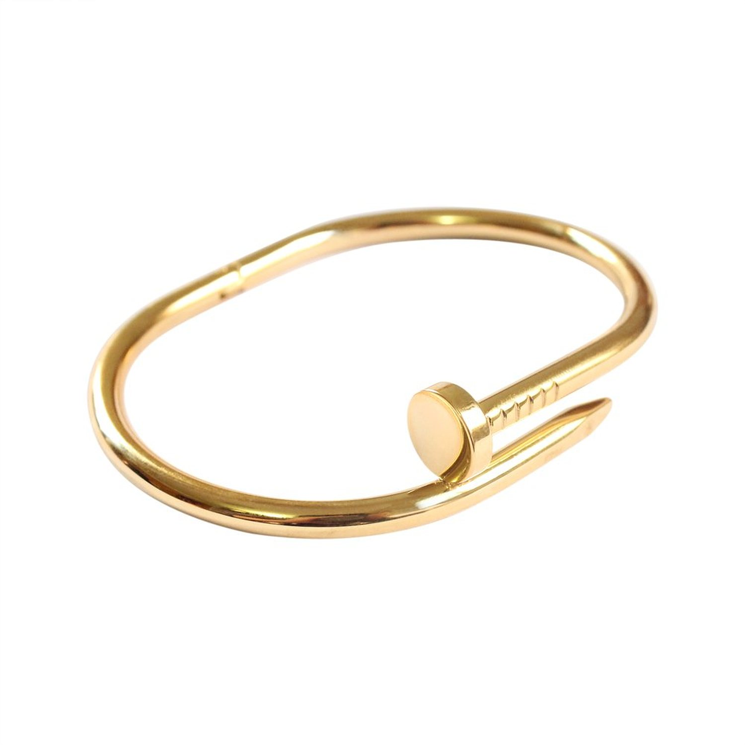 Amazon.com: 8% Off 18k Gold Plated Titanium Steel Wire Nail Bracelet (6.5 Inches): Jewelry
