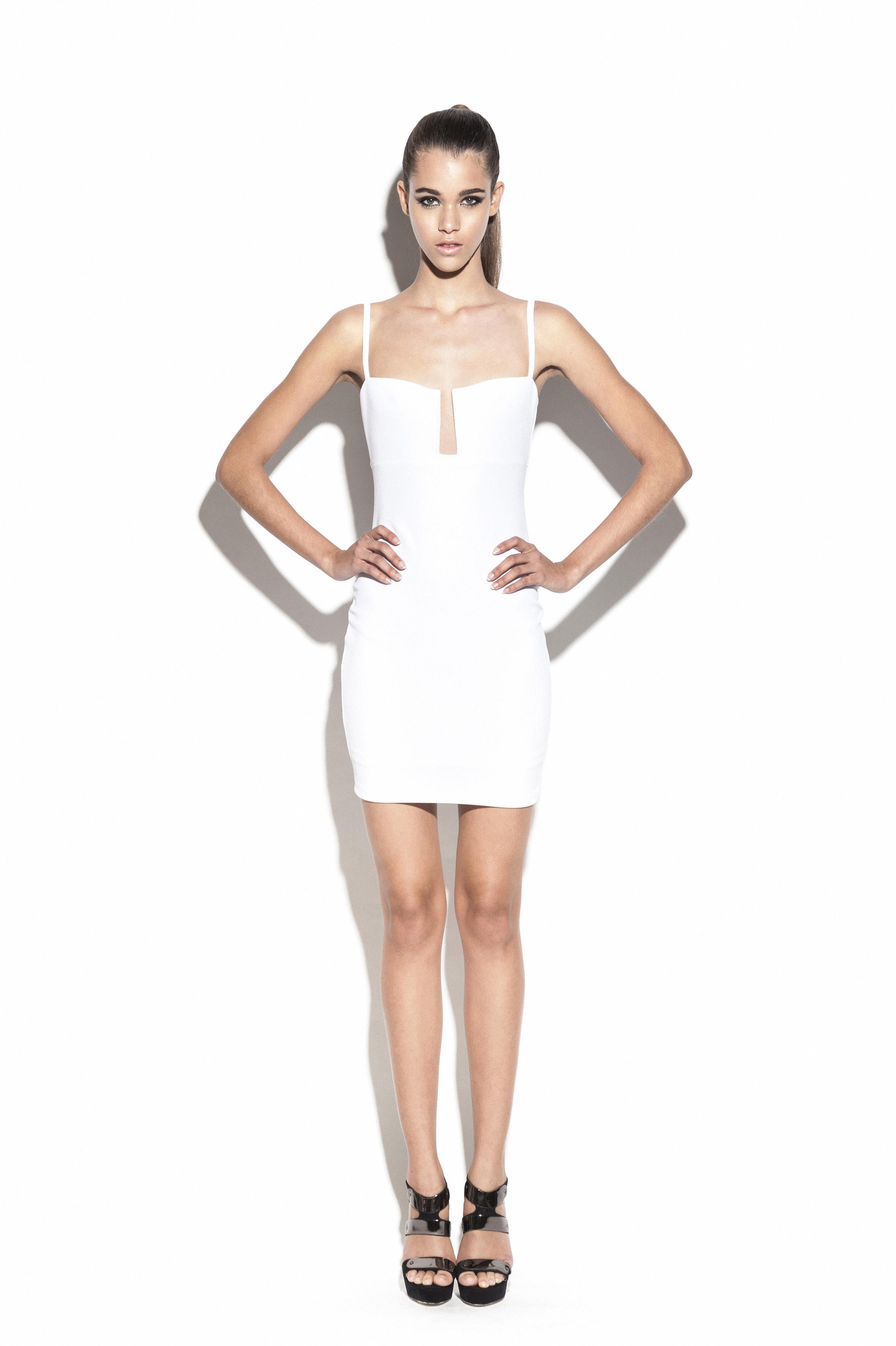 White Stadium Bustier Dress : Buy Designer Dresses Online at Nookie