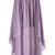 Purple Elastic Waist Asymmetrical Chiffon Skirt - Sheinside.com