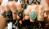 jewels,ring,colorful,gold,bronze,green,silver