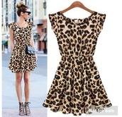 dress,leopard print dress