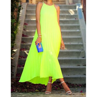 dress neon gorgeous cute dress fashionista sexy cute clothes cool summer outfits edgy beautiful bright style neon green smoking