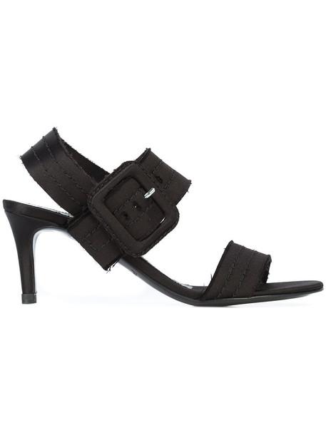 Pedro Garcia women sandals leather black silk satin shoes