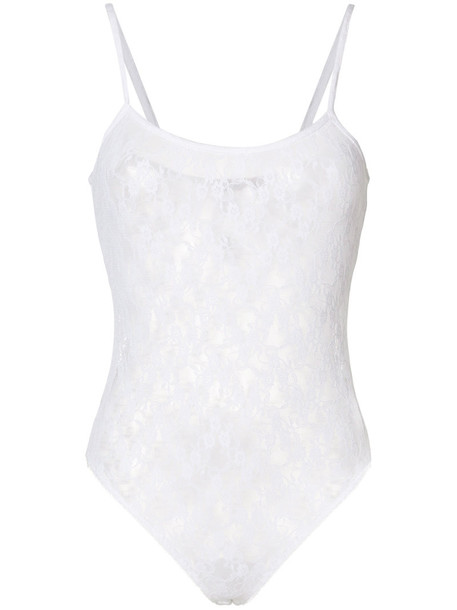 bodysuit lace bodysuit women lace white underwear