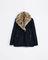 Three quarter length coat with fur collar on wanelo